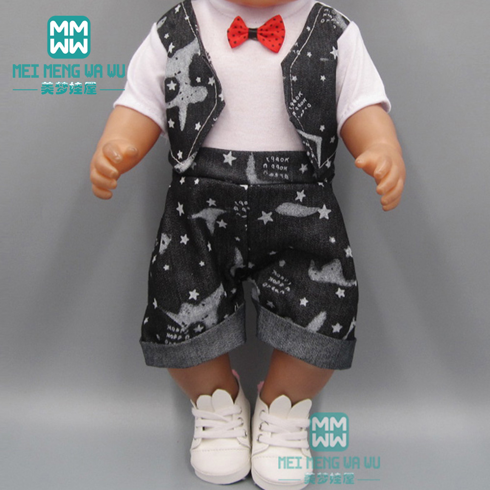 Baby <font><b>clothes</b></font> for <font><b>doll</b></font> fit <font><b>43</b></font> <font><b>cm</b></font> toy new born <font><b>doll</b></font> accessories and american <font><b>doll</b></font> Casual jacket <font><b>set</b></font> image