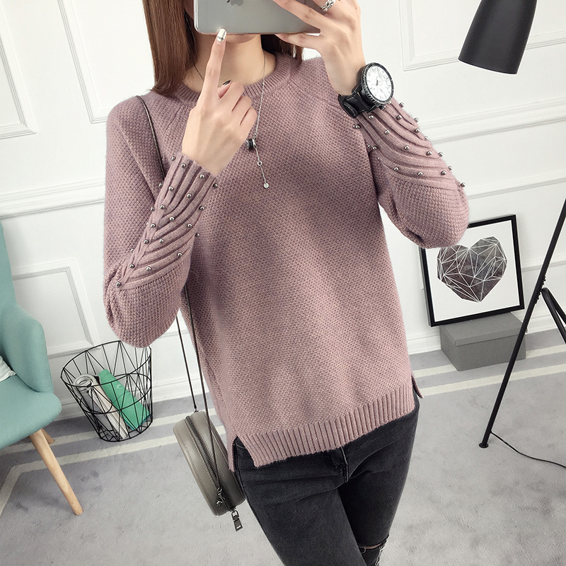 OHCLOTHING 2019 New Spring Korean Short All-match Winter Sweater Knitted Shirt With Long Sleeves And Loose Women