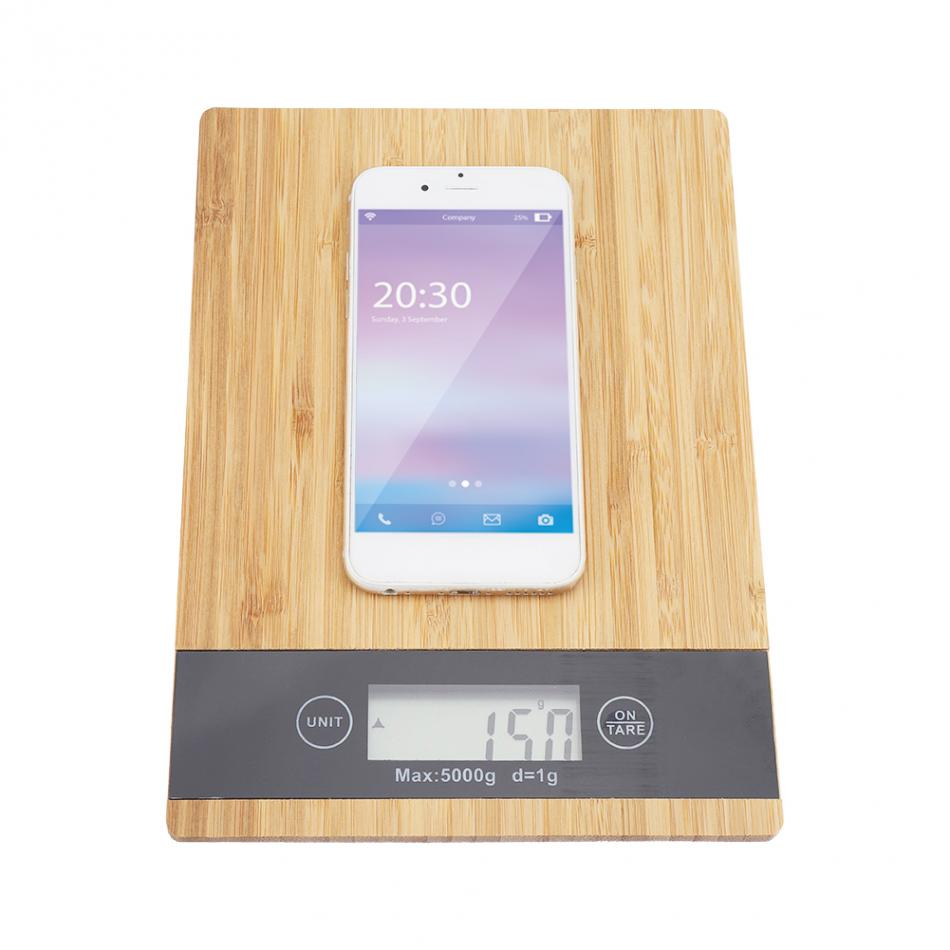 Digital Food Scale and Kitchen Scale with Wooden Surface And LED Display 8