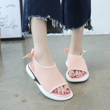 Liren 2019 Summer Sweet Women Low-top Sandals Mesh Casual Sport Open Toe Fish Mouth Lady Flat With Shoes Size 35-40