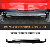 PU заднего бампера для губ Диффузор для Audi TT стандартный бампер 2006 2010 8J