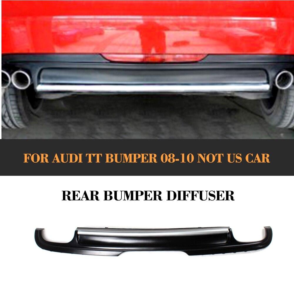 PU Rear Bumper Lip Diffuser For Audi TT Standard Bumper