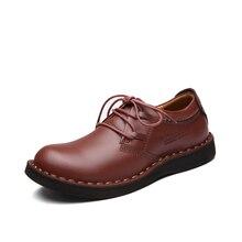 2016 весна Осень ручной бизнес Мужчины обувь мода классический люкс Квартира босоножки на молнии мужчины обувь из натуральной кожи случайные обувь