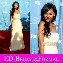 Meagan Good Kleid zu NAACP Kleid 38th Image Awards Red Carpet Bodenlangen Promi Abendkleid vestido de festa longo