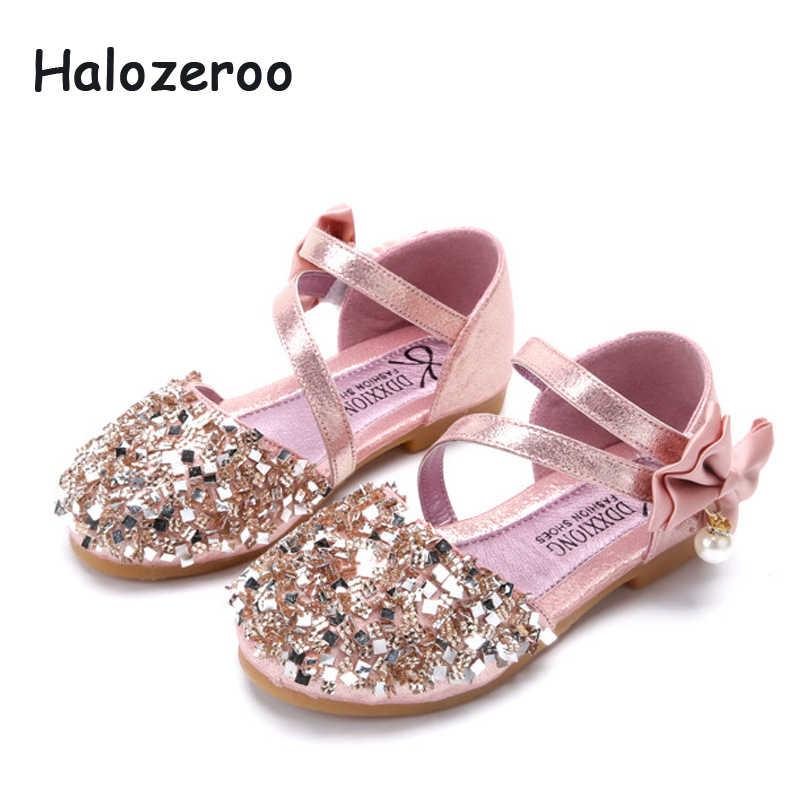 2019 ฤดูใบไม้ผลิใหม่เด็กทารก Bow รองเท้าเด็ก Glitter รองเท้าเด็กวัยหัดเดินรองเท้าเด็กแบรนด์ Pearl รองเท้า Party Mary Jane 2019