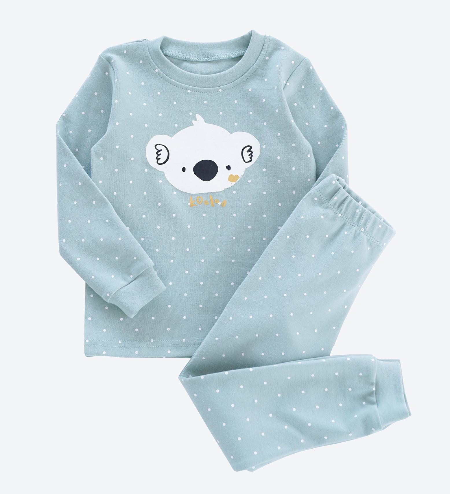 91ea15363a5c Wintercotton cartoon baby Pyjamas Kids Korean version lace princess ...