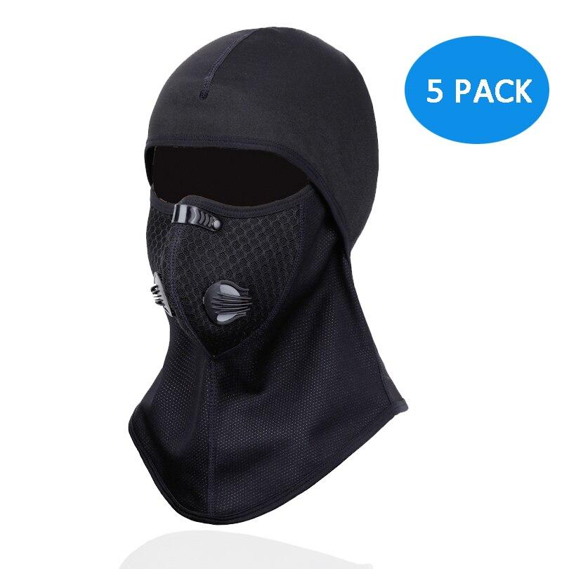Paquet de 5 sports de plein air équitation moto coupe-vent masque facial anti-poussière respirant masque chaud hiver polaire ski cagoule
