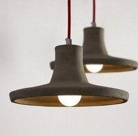 Nordic Loft Stil Kreative Zement Droplight LED Vintage Anhänger Licht Leuchten Für Esszimmer Hängen Lampe Innen Beleuchtung-in Pendelleuchten aus Licht & Beleuchtung bei