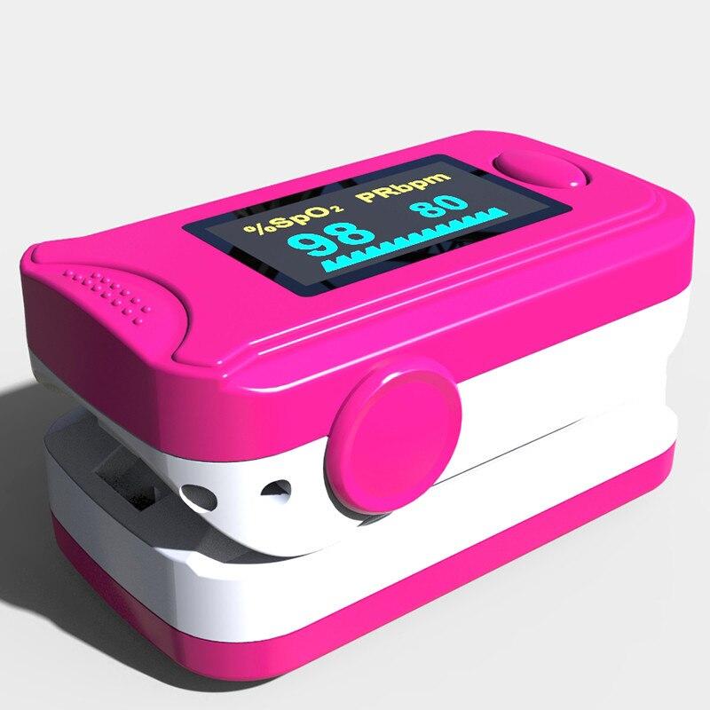 Household Free shipping health care EC-G6 FDA CE OLED display Fingertip Pulse Oximeter, Blood Oxygen SpO2 oximetro monitor Blue 12