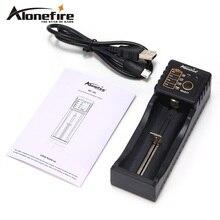 Alonefire MC101 Интеллектуальный Li-ion 3.7 В Перезаряжаемые батарейки Ni-MH Ni-Cd 1.2 В Зарядное устройство USB для 26650 18650 18350 16340 10440