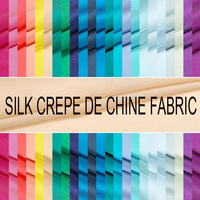 114CM Wide 16MM Print Solid Color Silk Crepe De Chine Fabric for Summer Dress Shirt 16Colors Available E373