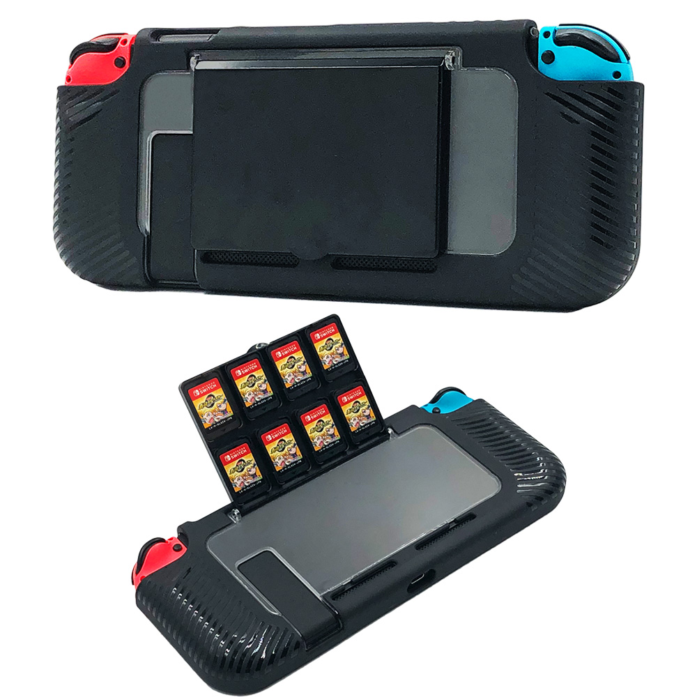 Nintend Switch Protective Case with 8 Game Cards Holders Accessories Rugged Hard Cover for Nintendos Switch