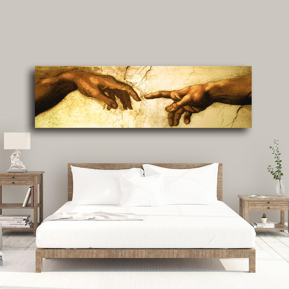 Canvas Painting Creation of Adam Hand of god Classical Religion 5 pieces Poster Living Room Home Decor Print Wall Art Pictures in Painting Calligraphy from Home Garden