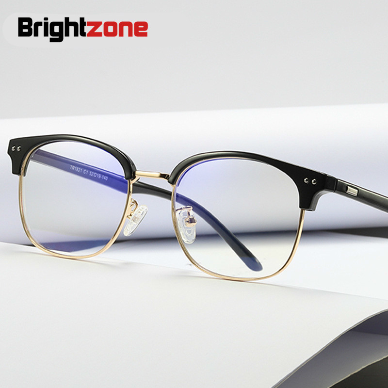 14f76c04614 Brightzone Myopia Spectacle Brands Frame Men TR90 Anti Blue Light Vintage  Retro Glasses Optical Eyeglasses Round Women Rims New-in Eyewear Frames  from ...