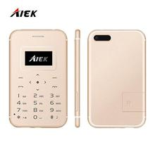 Ultra Thin Card Mobile Phone 10 pcs/lot AIEK/AEKU X8 Mini Pocket Students Personality Low Radiation for child PK AIEK X6 M5 X7