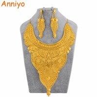 Anniyo Африканский большой Ювелирные наборы для женщин Дубай Свадебные украшения Саудовская Аравия Индия Объединенные Арабские Эмираты Золо