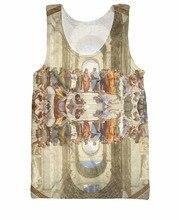 School of Athens Tank Top spirit of the Renaissance Raphael's masterpiece 3d print Sexy Women Men Vest Jersey tee Camis