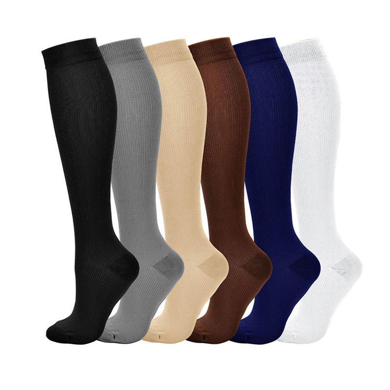 Brothock Men Socks Suitable Medical Compression Stockings Running Sports Travel Pressure Socks Multi-color Sequential Socks