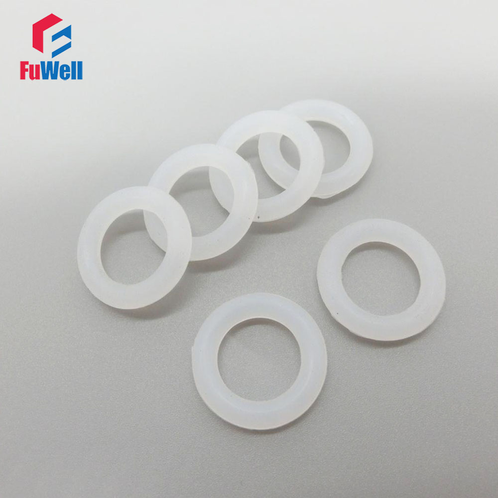Food Grade White O-ring Seals Gasket Silicon 5.7mm Thickness 30/35/40/45/50/55/60/65/70/75mm OD Rubber O Rings Sealing Grommet 100pcs nbr o ring seals gasket 1mm thickness food grade o ring seal 70sha black rubber sealing rings grommet