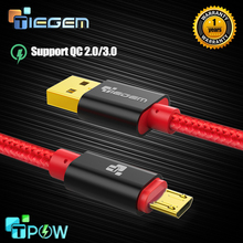 TIEGEM Micro Usb Cable 2a Nylon Fast Charging Mobile Phone Android Data Sync Charger Cable For Samsung HTC LG Sony Usb Cables