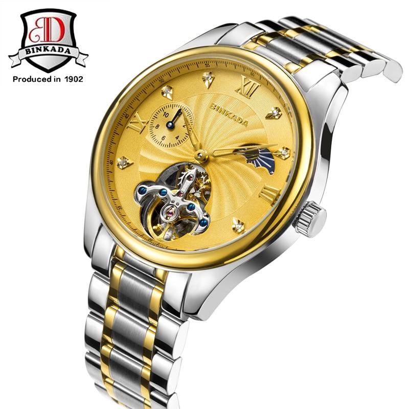 BINKADA Relojes Mecánicos Automáticos Hombres Acero Inoxidable - Relojes para hombres - foto 5