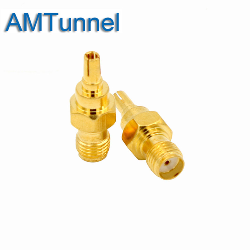4G Antenna Connector  SMA Female Jack RF  Antenne Connector CRC9 Male Plug To 2 Pcs Straight Gold Brass Plating