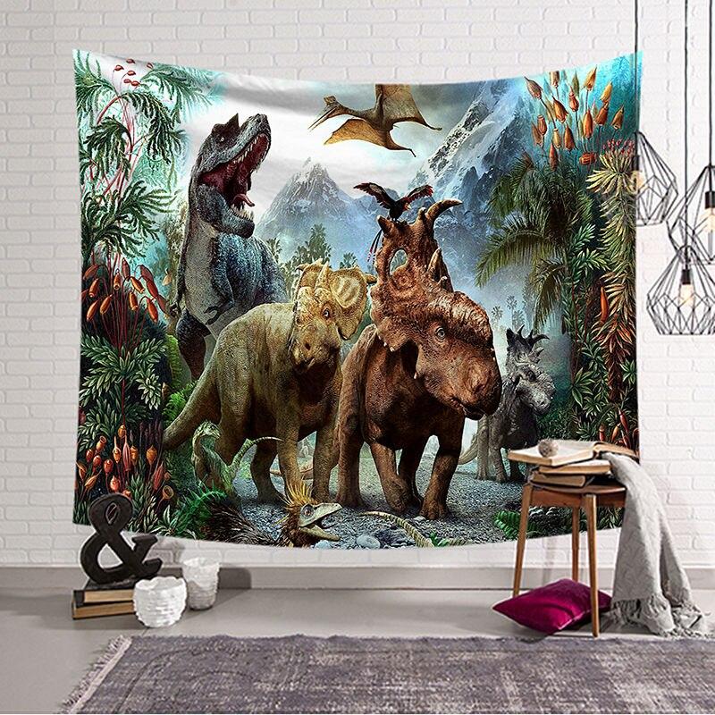 Dinosaurier Wandbehang Tapisserie Blätter Hause Dekorative Wandteppiche Strand Handtuch Decke Tischdecke Wandteppich w3-dz-4