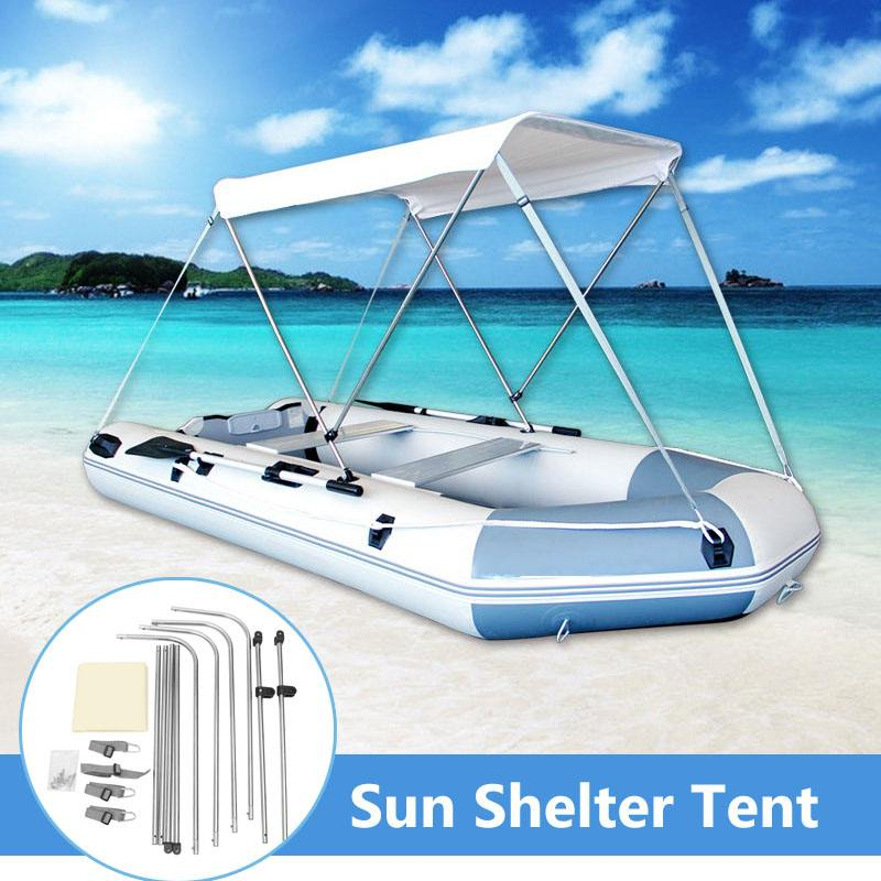Accessoires de Kayak de bateau gonflable SGODDE pêche ombre de soleil auvent de pluie Kit de Kayak voilier auvent couverture supérieure abri de bateau pour 2 personnes