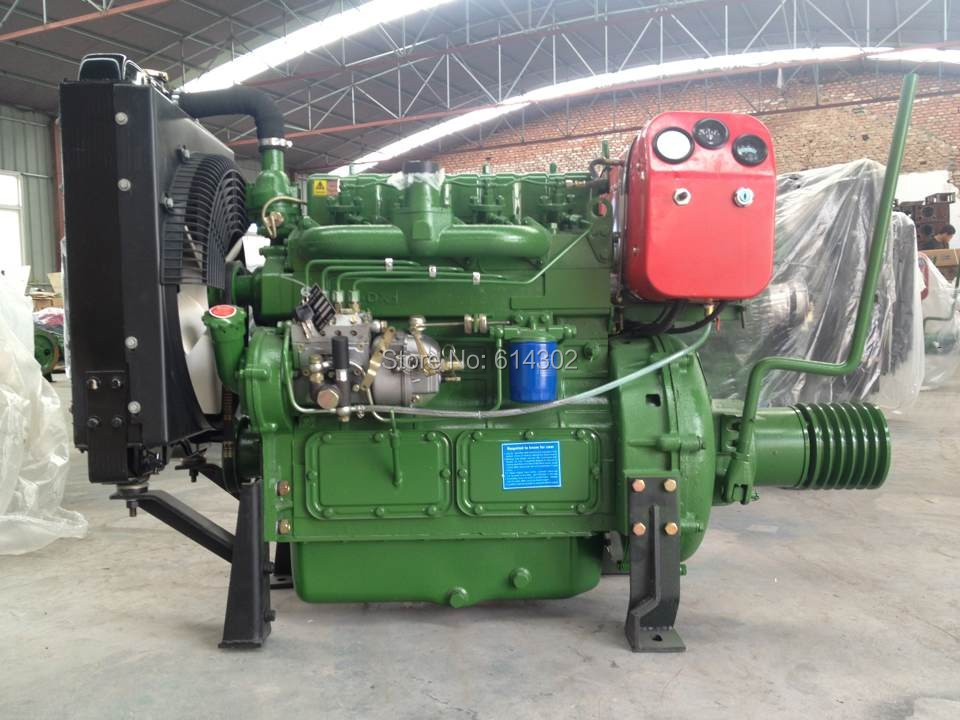 ZH4100P Stationary Power 40kw weifang diesel engine with clutch connecting water pump for 495 4100 weifang diesel engine parts