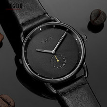цены BAOGELA Men's Simple Quartz Watches Fashion Casual Minimalism Analogue Wristwatch for Man Leather Strap 1806Black