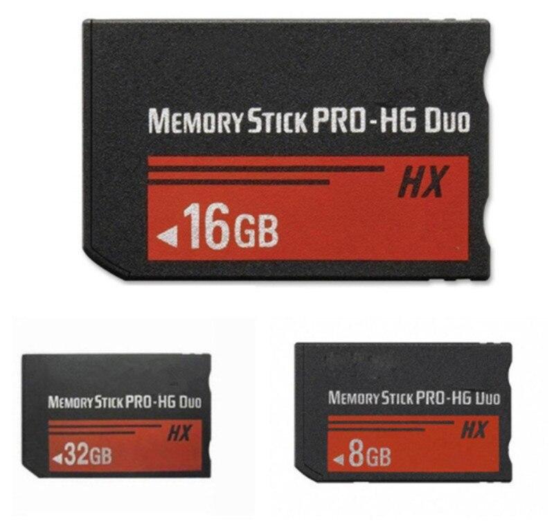 Real Capacity!!! 8GB 16GB 32GB MS HX Memory Stick Pro Duo Memory Cards With Memory Stick Pro Duo Adapter