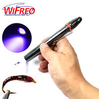 Wifreo Deluxe Fly Fishing UV Glue Cure Light UV Torch Pen Shap Ultra Violet Flashlight Nymph