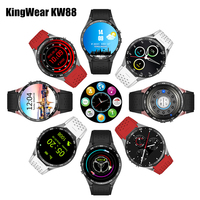 KingWear KW88 Android 5 1 Smartwatch 3G Bluetooth Wifi Smart Watch Phone MTK6580 Quad Core 512MB