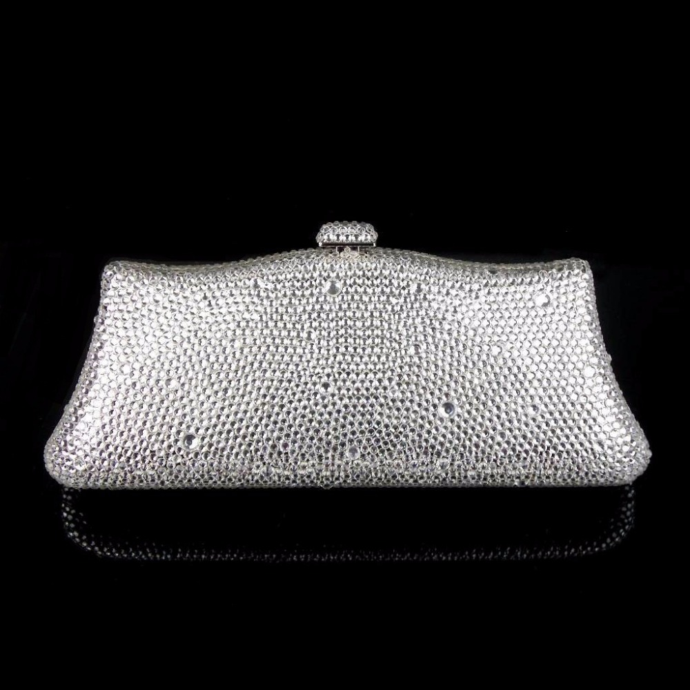 ФОТО L7788Z Crystal Lady Fashion Bridal Party Night Metal Evening purse clutch bag case box handbag