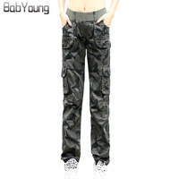 LIKEPINK 2017 Summer Women Pants Camouflage Cotton Casual Working Trousers With Pockets Loose Thin Pantalon Femme
