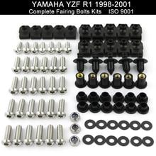 Для YAMAHA YZFR1 YZF R1 1998 1999 2000 2001 1998-2001 Полный Комплект болтов обтекателей зажимы из нержавеющей стали
