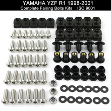 цены For YAMAHA YZFR1 YZF R1 1998 1999 2000 2001 1998-2001 Motorcycle Complete Full Fairing Bolts Kit Fairing Clips Stainless Steel
