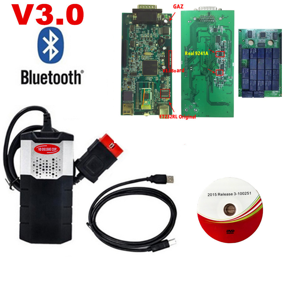2019 New Software 2016 0 R0 Keygen  2015 3 VD DS150E CDP vd tcs cdp pro plus V3 0 with bluetooth for delphis car truck OBD2 Scan