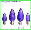 Frete grátis smd 5050 C7 lâmpadas led natal AC120V E12 base roxa utilizados em árvores de natal e decorações