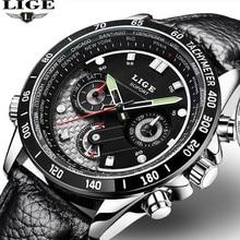 Reloj Hombre 2016 LIGE Luxury Men's Watch Casual Sports Watch Men's Waterproof Quartz Watch Military Clock Relogio Masculino