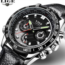 Reloj Hombre 2016 LIGE Luxury Men's Watch Casual Sports Watch Men's Waterproof Quartz Watch Military Clock Relogio Masculino