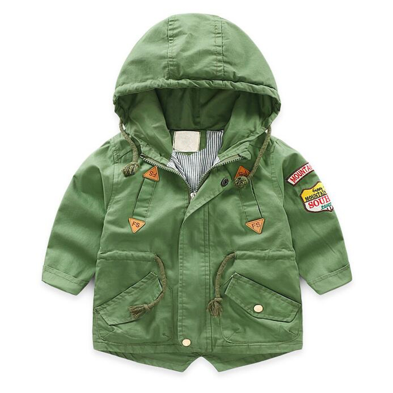 LILIGIRL Kids Boys Autumn Canvas Long-Jackets Windbreaker 2018 Baby Hooded Tops Clothes for Children Badge Letter Coats Outwear 2 14t baby boy clothes boys jacket leather spring letter boys outwear for children kids coats for boys baseball sweatershirt