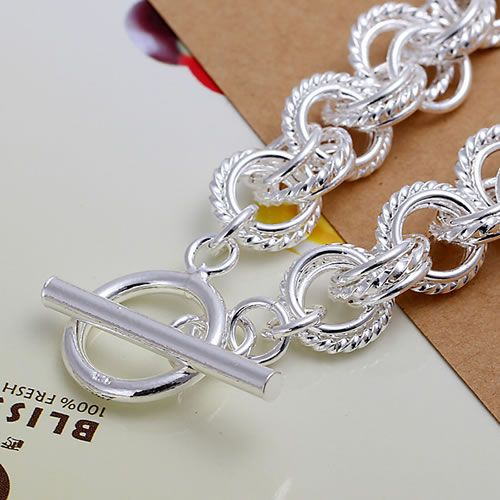 H023 Fine silver plated wholesale jewelrys,Hot sale Factory price charm free shipping 925 fashion Triple Bracelet /acpaitwa 6