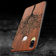 For Huawei P20 Lite Case Real Wood funda P20 Lite Rosewood TPU Shockproof Back Cover Phone Shell For Huawei P20 Pro lite case cheap Floral vintage Patterned Exotic Abstract Anti-knock Dirt-resistant Fitted Case for huawei p20 p20 pro p20 lite BOOGIC as picture