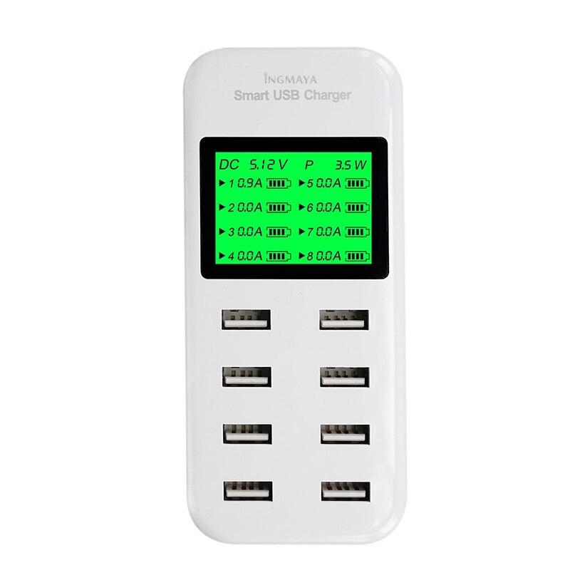 INGMAYA 8-port USB-laddare 5V8A LED-display laddningsstation för - Reservdelar och tillbehör för mobiltelefoner - Foto 2