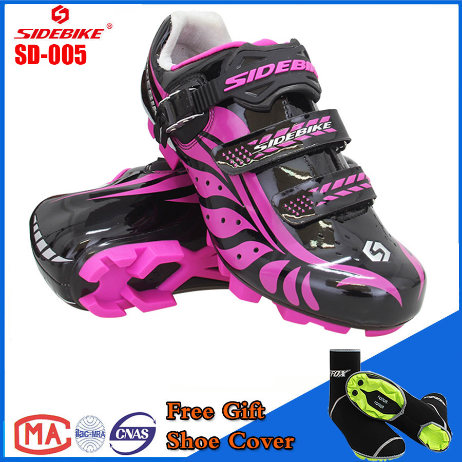 SIDEBIKE 2018 Hot Pink Women Cycling Shoes Breathable Sapatilha Ciclismo MTB Bicycle Self-locking sports Mountain BikeSIDEBIKE 2018 Hot Pink Women Cycling Shoes Breathable Sapatilha Ciclismo MTB Bicycle Self-locking sports Mountain Bike