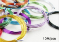 10M Anadized Aluminum Wire soft DIY jewelry craft versatile painted aluminium metal wire, Ni & Pb free - 18 gauge (1mm), LX