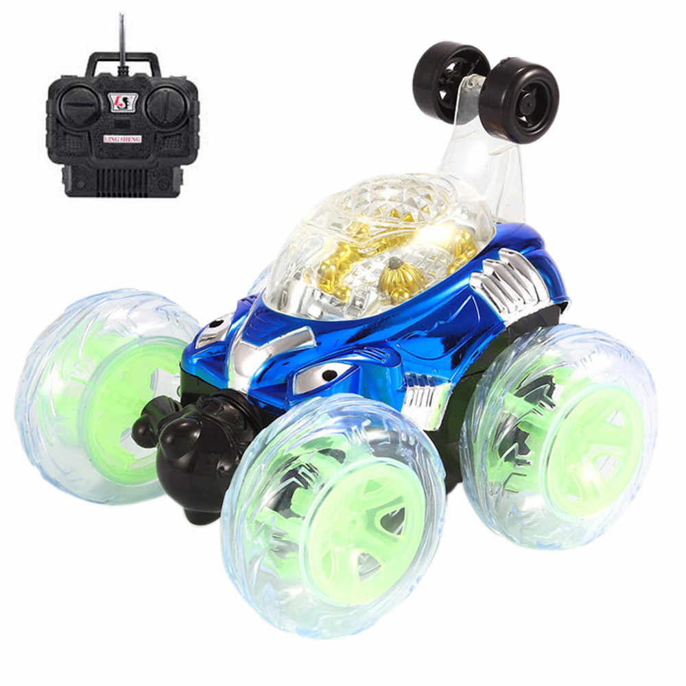 Radio controlled machines furious New 360 Spinning And Flips With Color Flash & Music for Kids Remote Control Truck D300528