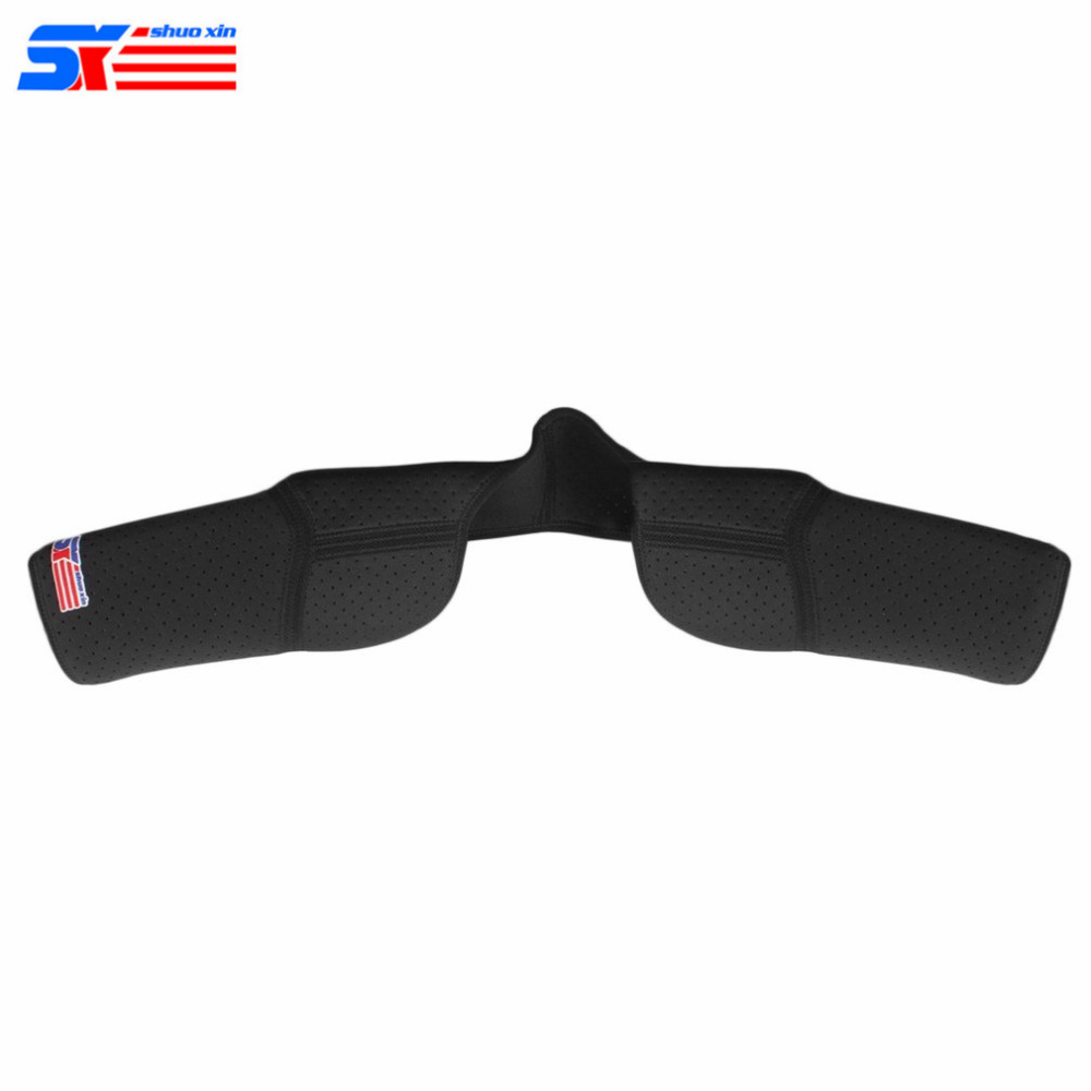 Elastic Breathable Sports Double Shoulder Brace Support Strap Wrap Belt Comfortable Band Protective Pad Black SX641 Hot