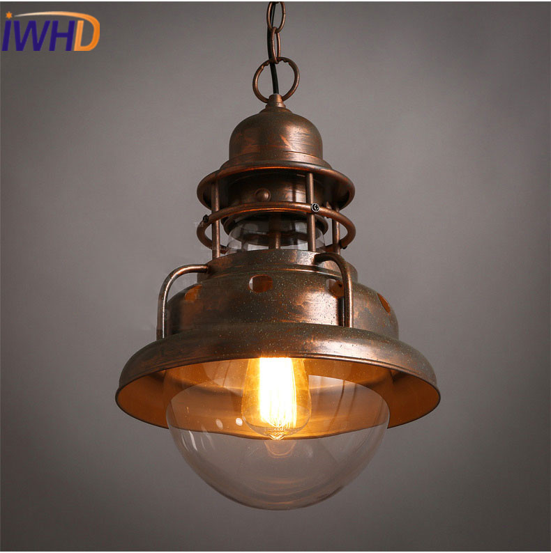 IWHD Iron Hanglampen Vintage Pendant Lights Loft Industrial Retro Pendant Lamp Bedroom Kitchen Iluminacion Lighting Fixtures